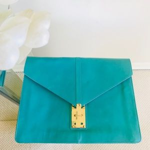 ASOS Turquoise Green Leather Clutch Purse 😍